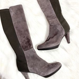 Stuart Weitzman Boots Skyline Suede Boots Leather